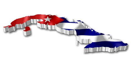 3D flag - Cuba