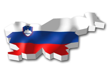 3D 플래그 - 슬로베니아 스톡 콘텐츠
