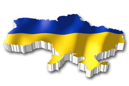 3D flag - Ukraine