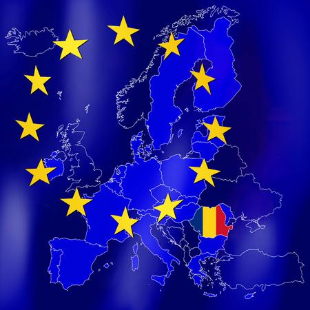 EU map - Romania