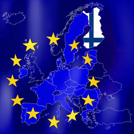 EU map - Finland Stock Photo