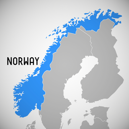 Norway Outline Stock Vector Illustration And Royalty Free - Norway map outline