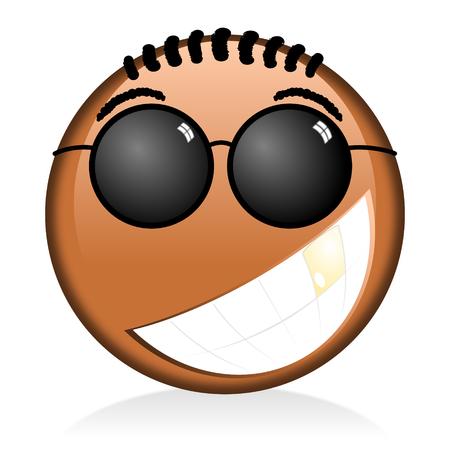 Black emoji, emoticon - smile
