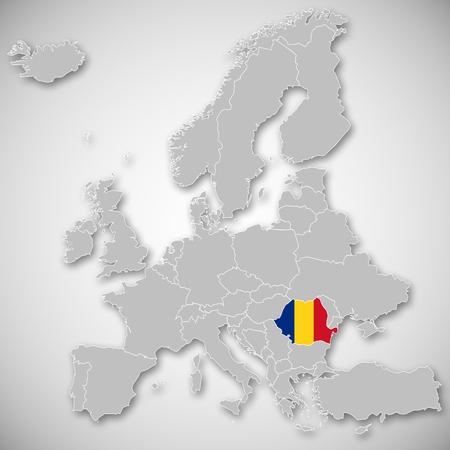 유럽지도 - 루마니아 스톡 콘텐츠