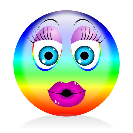 Colorful emoji - woman