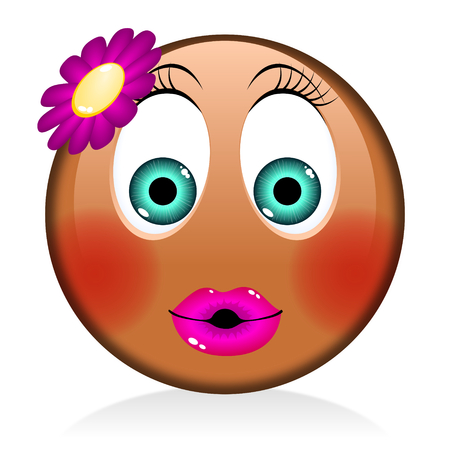 Emoji - black woman, girl Reklamní fotografie