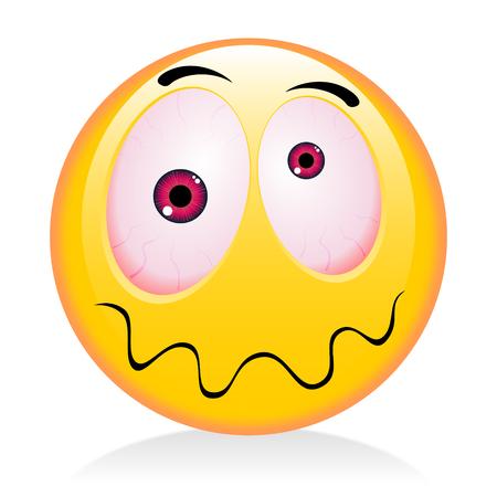 Emoji, émoticône - ivrogne Banque d'images - 83031157