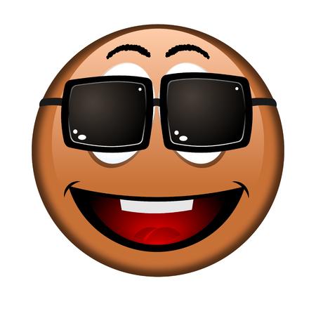 Black emoji, emoticon - sunglasses