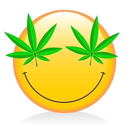 Emoji - smoking weed