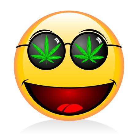 그림 이모티콘 - 흡연 잡초