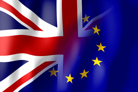 Brexit - Great Britain and European Union flag