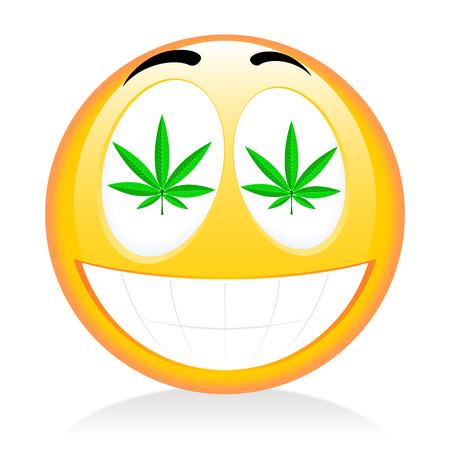 Emoji - fumar hierba Foto de archivo - 83031547