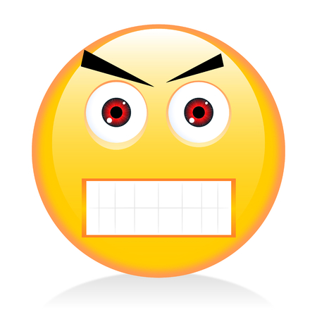 Emoji, emoticon - angry, anger Stock Photo
