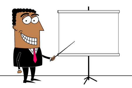 Black businessman, presentation concept Stock fotó