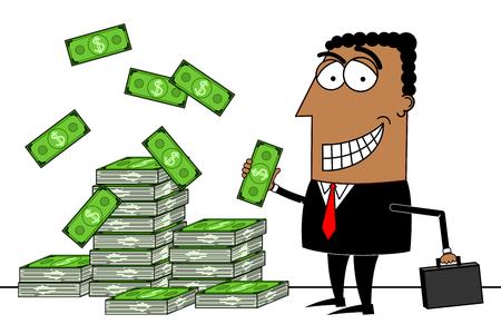 Black businessman, dollars concept Stock fotó