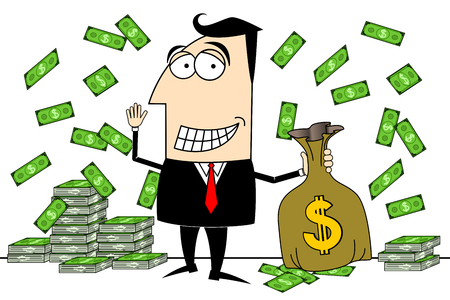 Businessman, dollars clip-art Stock fotó - 83274989