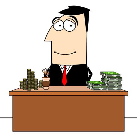 Businessman, office clip-art