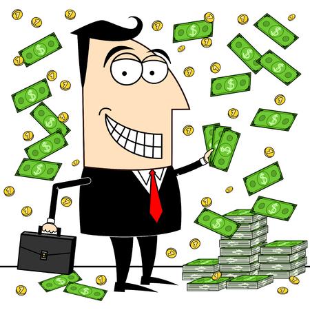 Businessman, dollars clip-art Stock fotó - 83275004