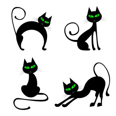 Halloween illustration - black cats
