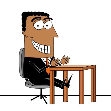 Black businessman at a desk