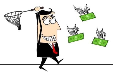 Businessman, money clip-art