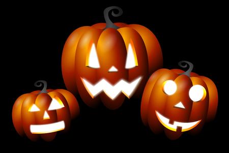 Halloween illustration - pumpkins