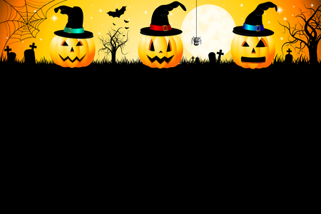 Halloween kaart sjabloon