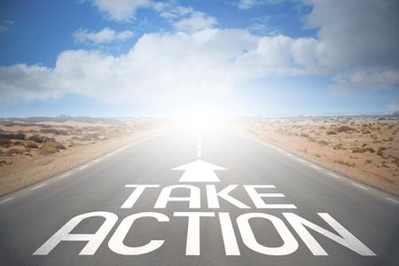 Road concept - take action Banque d'images
