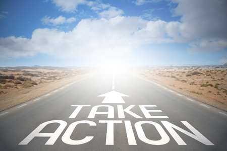 Road concept - take action Stok Fotoğraf
