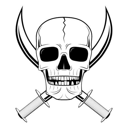 Skull illustration - sabre
