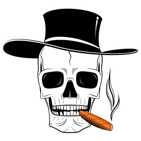 Skull illustration - hat