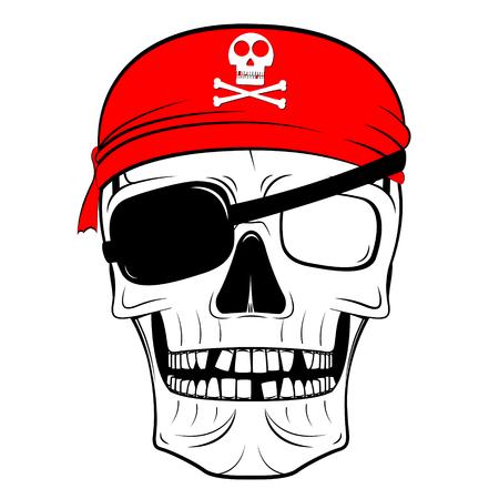 Skull illustration - pirate