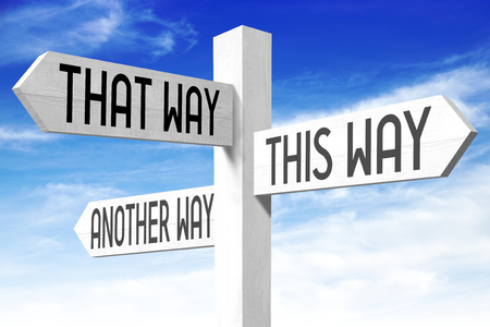 This way - wooden signpost
