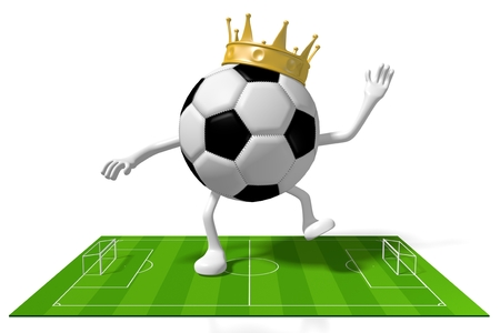3D soccer football concept