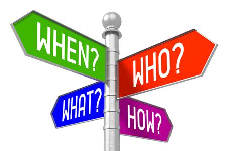 質問コンセプト - カラフルな道標