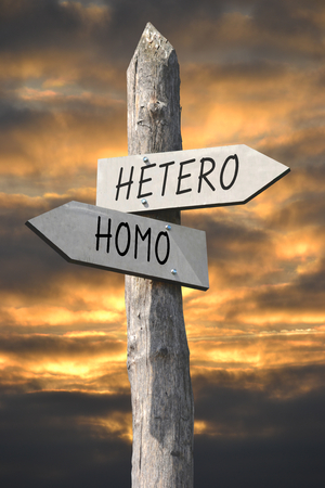 Hetero or homo signpost