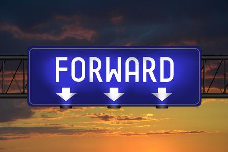 Forward street sign