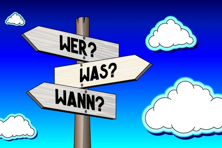 Signpost - questions in German