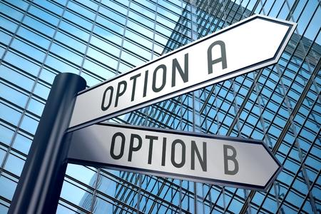 3D signpost - option A, option B