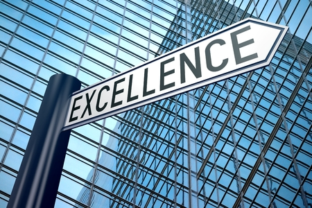 3D signpost - excellence concept