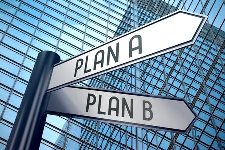 Señal 3D - plan A, plan B Foto de archivo - 84190665