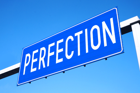 Perfection street sign Stock Photo