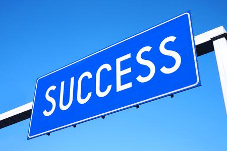 Success street sign Stock Photo