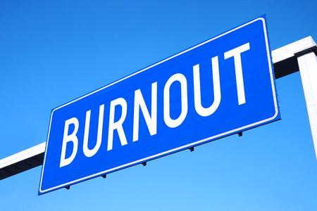 Burnout street sign