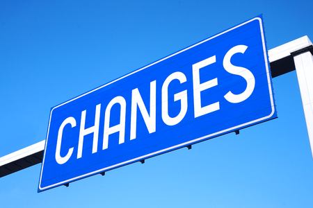 Changes street sign Stock Photo