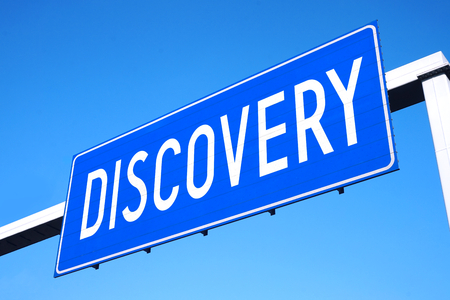 Discovery street sign Stock Photo