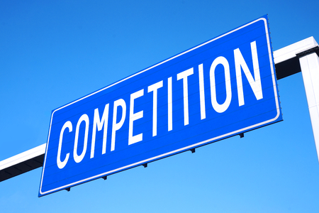 Competition street sign Stock Photo