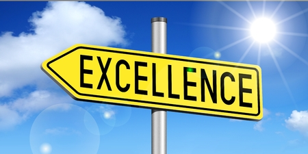 3D signpost - excellence