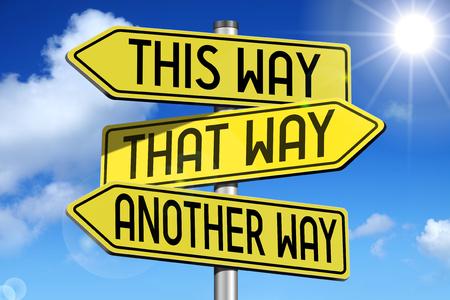 この方法が黄色の道路標識