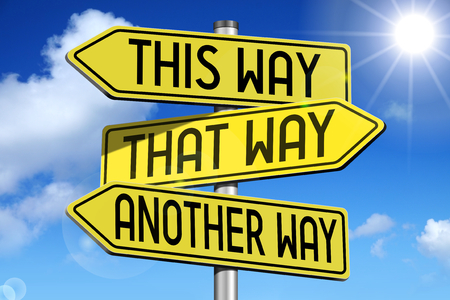 This way - yellow roadsign